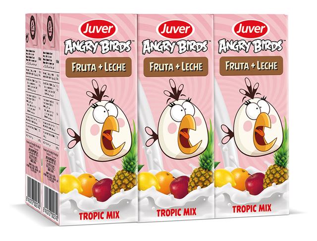 """<p>Juver y Tetra Pak han vuelto a unir fuerzas con las aves más locas de los videojuegos a través del lanzamiento de dos nuevos productos de la gama """"Angry Birds"""": Tutti Frutti y Tropic Mix"""