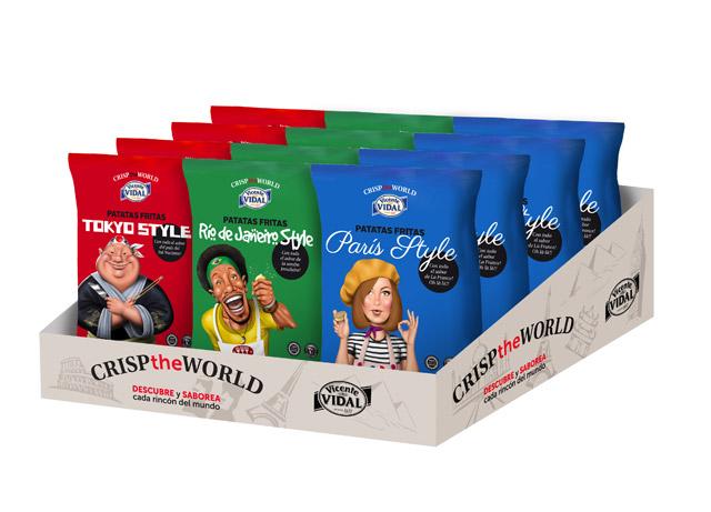 """<p>La nueva línea de patatas de sabores del mundo """"Crisp the World"""""""