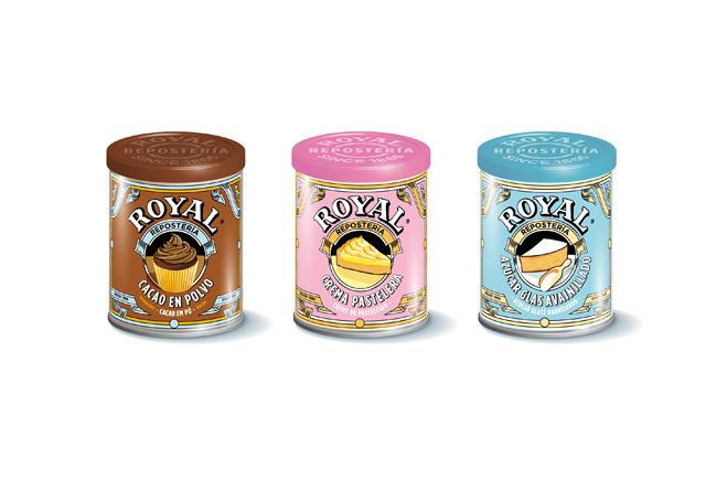 <p>Los envases de tres nuevos productos de Royal