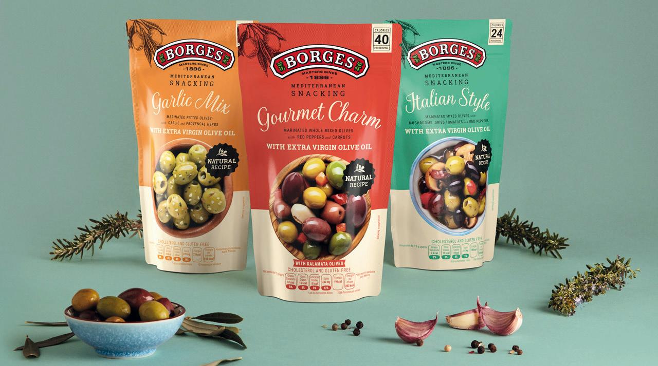 <p>Un<strong> packaging</strong> para las nuevas <strong>aceitunas </strong>de <strong>Borges</strong> International Group diseñado por <strong>Vibranding</strong>. Borges es conocida por sus productos típicos del mediterráneo