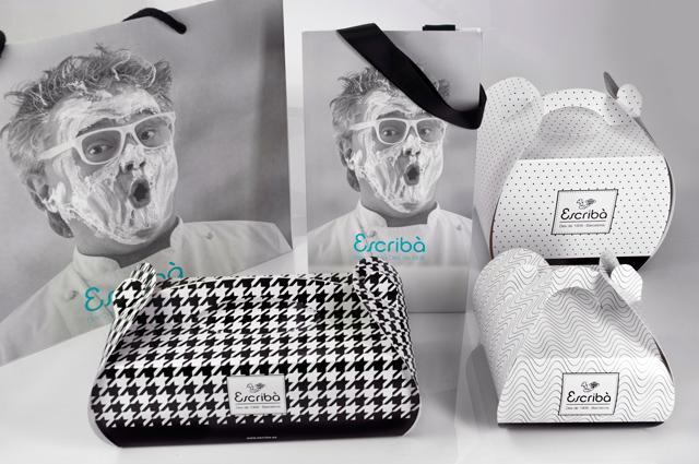 <p>Christian Escribà les encargó un restyling de su marca y una puesta al día de sus packagings de producto. <br />Renovaron la marca clásica y realizaron un profundo estudio de texturas en blanco y negro