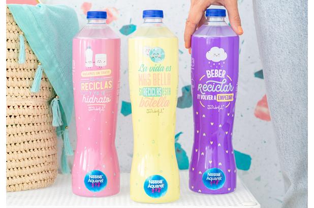<p><strong>Nestlé Aquarel</strong> lanza su nueva botella realizada con un 25% de <strong>plástico PET reciclado</strong> (rPET)