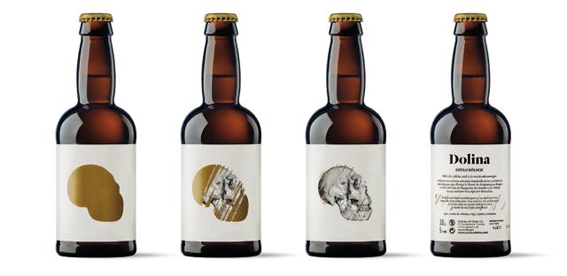 <p>Dolina (Brebajes del Norte) es una cerveza artesana producida en Burgos. La etiqueta ha sido realizada con el Tintoretto Gesso Ultra WS de Manter. El diseño es de Moruba. <br />Se llama Dolina como homenaje a la Gran Dolina