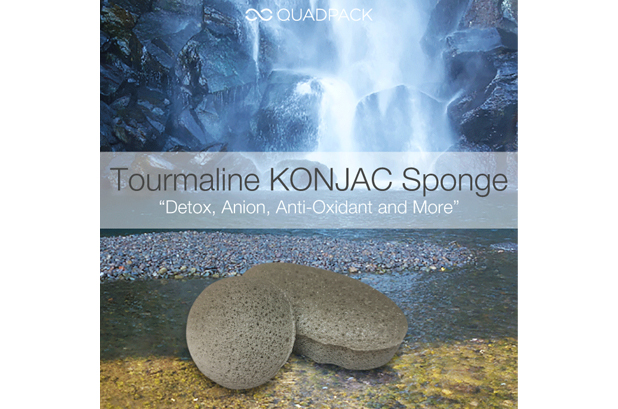 Quadpack presenta la esponja Tourmaline Konjac