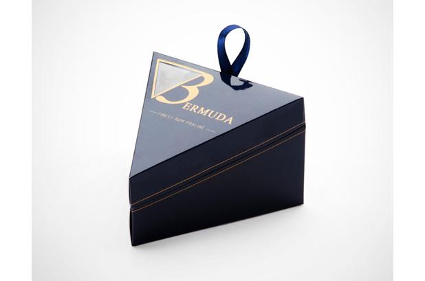 <p>Una elegante <strong>caja</strong> de chocolates inspirada en el Triángulo de las Bermudas