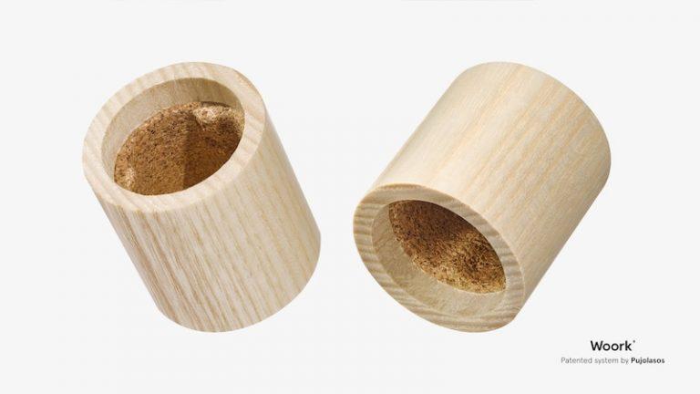Pujolasos lanza «Woork®», el primer tapón de madera 100 % natural y compostable