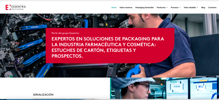 Nueva web de Essentra Packaging España
