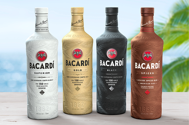 Bacardi presenta su botella de licor 100 % biodegradable