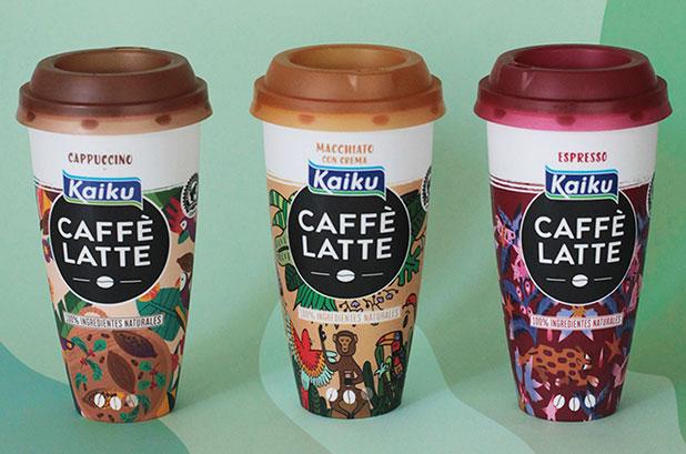 Edição limitada Kaiku Caffè Latte projetada por jovens talentos