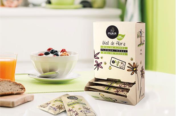 Muria BIO lanza una gama de sobres  monodosis de miel de flores ecológica
