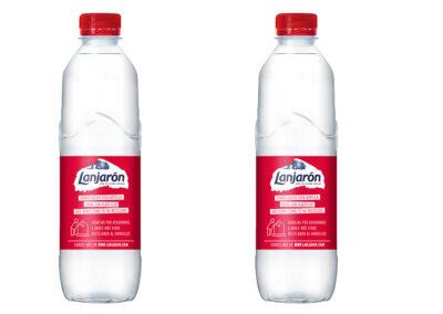 Lanjarón presenta su botella de 50cl hecha totalmente con plástico reciclado