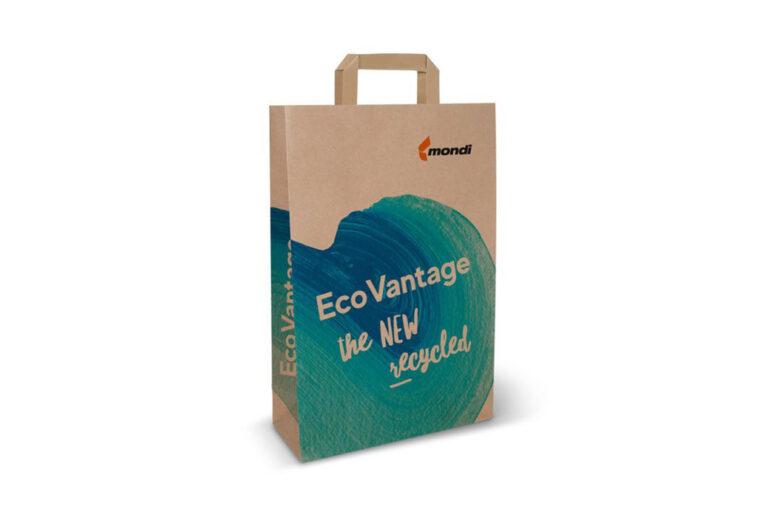 Mondi lança máquina de papel kraft 100% reciclável para sacolas de compras