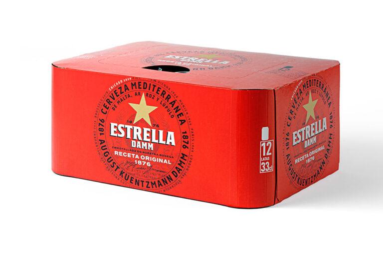 Estrella Damm elimina los plásticos que envuelven los packs de latas