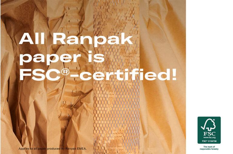 Ranpak obtém certificado FSC® completo para seus produtos de embalagem de papel