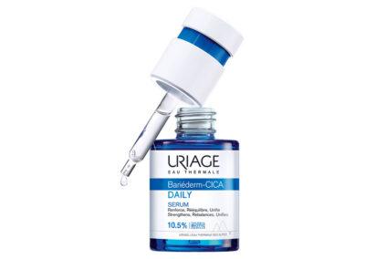 新的Uriage血清装在Virospack生产的滴管瓶中