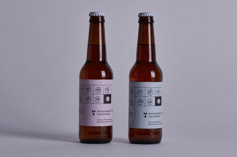 Packaging cerveza séptimo aniversario de Brandsummit
