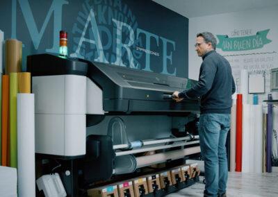 Marte Impresores, uno de los primeros usuarios de la nueva serie HP Latex 800 W