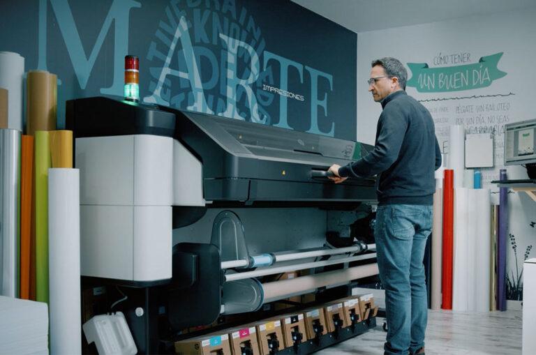 Marte Printers, um dos primeiros usuários da nova série HP Latex 800 W