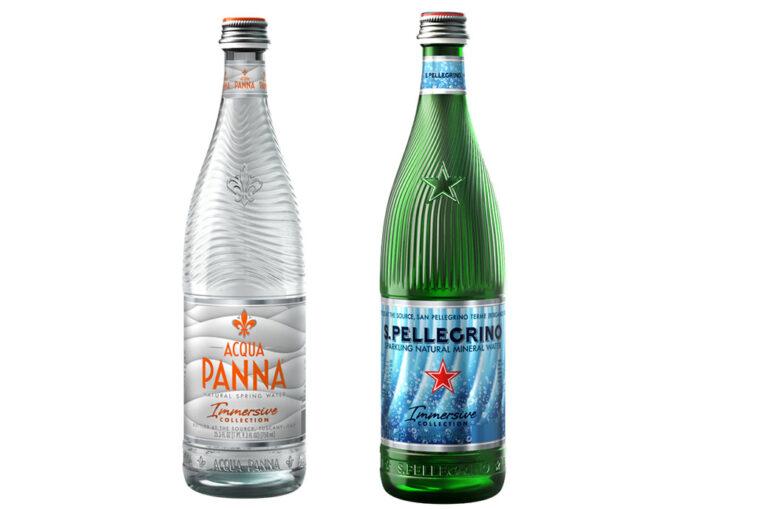 Nouvelles bouteilles spéciales de S. Pellegrino et Acqua Panna