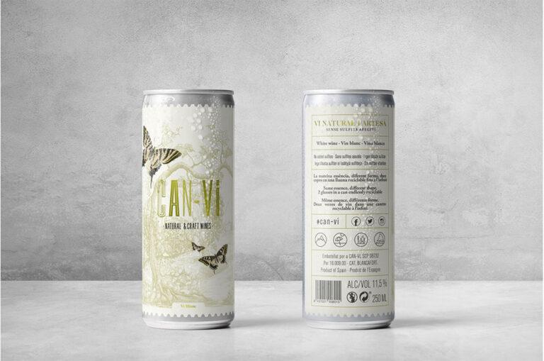 罐装天然葡萄酒的包装