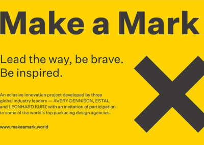 "Avery Dennison, Estal et Leonhard Kurz lancent ""Make a Mark"""