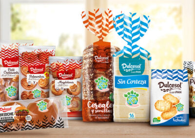All Dulcesol products, in 100% biodegradable containers