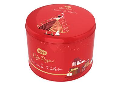 タマラ・ファルコが新しいネスレ・カハ・ロハ缶をデザイン