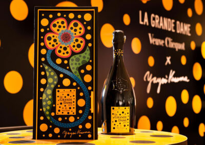 Vibrant creation by Yayoi Kusama for La Grande Dame 2012 by Veuve Clicquot