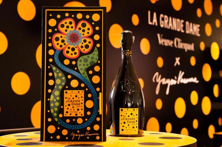 Yayoi Kusama 为 Veuve Clicquot 的 La Grande Dame 2012 充满活力的创作